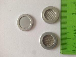 Eingefasste Siebronden kleiner Durchmesser