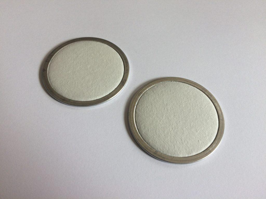 Eingefasste Siebronden aus Mikroglas-Kunststoffvlies